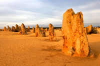 The Pinnacles Desert in the heart of the Nambung National Park, Western Australia
